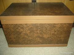 Retró tároló láda  pad műbőr borítás