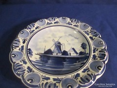 Holland porcelán jelzett falidísz A 065