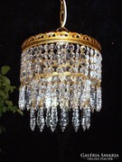 Antik kristály  lámpa, kristálycsillár