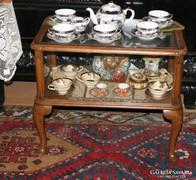 Vitrin asztal,teázó asztal