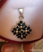 VIDD! Zafír köves ezüst medál csodaszép eladó