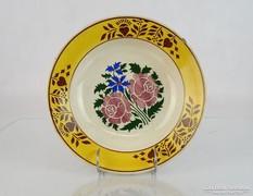 0M087 Antik hollóházi porcelán falitányér 24.5 cm