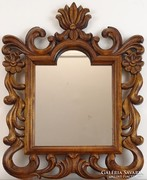 0M151 Florentin jellegű faragott hársfa fali tükör
