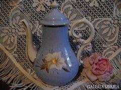 Biedermeier stílusú kék gyönyörű teakiöntő
