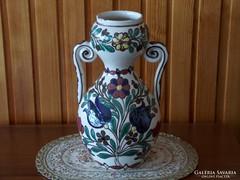Régi kétfülű kézzel festett váza