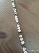 Lengyel ezüst karkötő brill csiszolású kövekkel