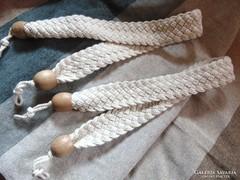 2 db szépséges fonott pamut függönykikötő