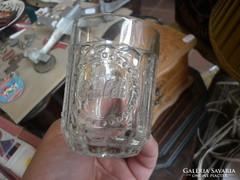 Antik üveg emlék pohár bögre