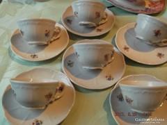 Csodaszép zsolnay régi kávés csésze 6 darab