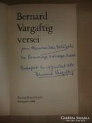 Bernard Vargaftig versei. Dedikált