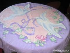 Gyönyörű rózsás galambos szíves vintage ágyneműgarnitúra