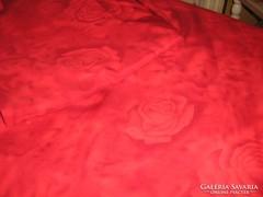 Meseszép piros rózsás vintage shabby chic ágyneműgarnitúra