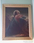 Krisztus az olajfák hegyén olajfestmény nagy méretű