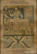 0M163 Régi keretezett orvosi könyv illusztráció