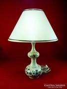 Zsolnay lámpa búzavirágos dekorral