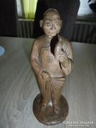 """Szignált """"Lovass L."""" kínai figura"""