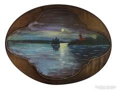 0M124 Ismeretlen festő : Holdfényben
