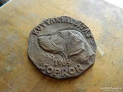 Renner Kálmán :KUTYAKIÁLLÍTÁS 1969 SOPRON -  bronz emlékérem