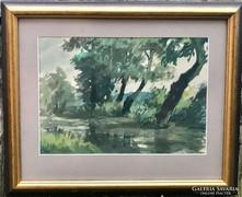 Frederick Varley - Nyári tájkép