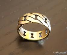 Arany gyűrű - mintázott, 14K