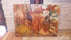 Csatáry Z. : fácánpár festmény