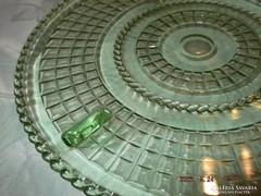 Német tányér zöld üveg   30 cm