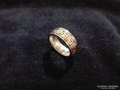 Görög mintás ezüst gyűrű