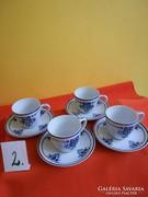 Hollóházi kávéskészlet 4 db-os