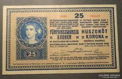25 korona 1918 2000 alatti sorszám