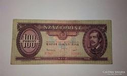 100 forint 1949-es ritkább évjáratú ropogós  bankjegy!