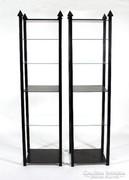 Fekete fa-üveg polc - állvány