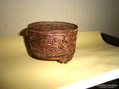 Antik vörösréz filigrán tartó
