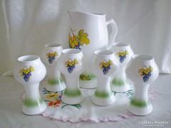 Gyönyörű és ritka porcelán / kerámia boros készlet