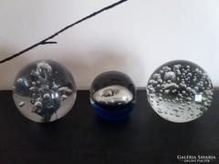 Muranoi üveg levél nehezékek