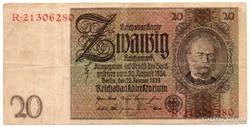 Németország 20 német birodalmi Márka, 1929