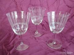 Antik csiszolt kristály pohár