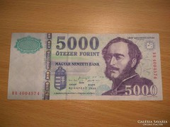 1999 év 5000 Forint BB! Ritkább!