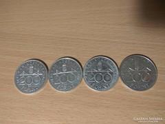 Ezüst 200 Forintok 1992,93,94,95 ig !