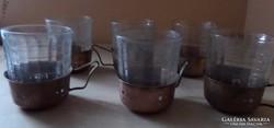 6 db réztartó pohárral