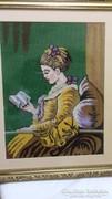 Gobelin nagy méretű Olvasó nő