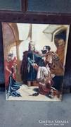 Nagyméretű  történelmi olaj vászon festmény