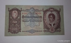 50 pengő 1932-es eredeti hibátlan UNC bankjegy !