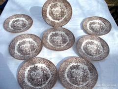 Angol 8  részes Ironstone ritka süteményes  készlet