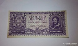 10 millió B.-Pengő hajtatlan bankjegy!