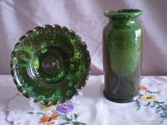 Egyedi kézzel készült kerámia váza és tál 1.