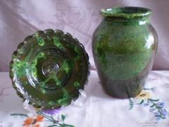 Egyedi kézzel készült kerámia váza és tál 3.