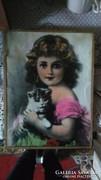 Eladó szép antik kép