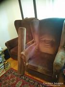 Füles fotel 2db felújításra szorul