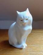 Gyönyörű, kézi festésű herendi cica