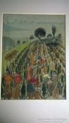 Bor Pál: Badacsonyi szüret 1960 körül